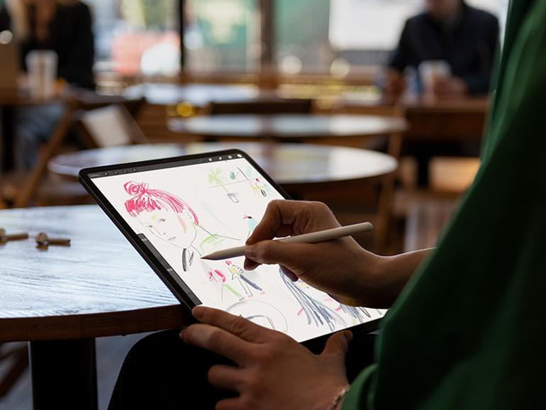 Mit dem Pencil und dem iPad Pro können Sie auch Motive abpausen