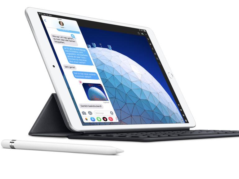 Auch das iPad der 3. Generation versteht sich auf den Apple Pencil, der für 99 Euro zusätzlich erworben werden muss.
