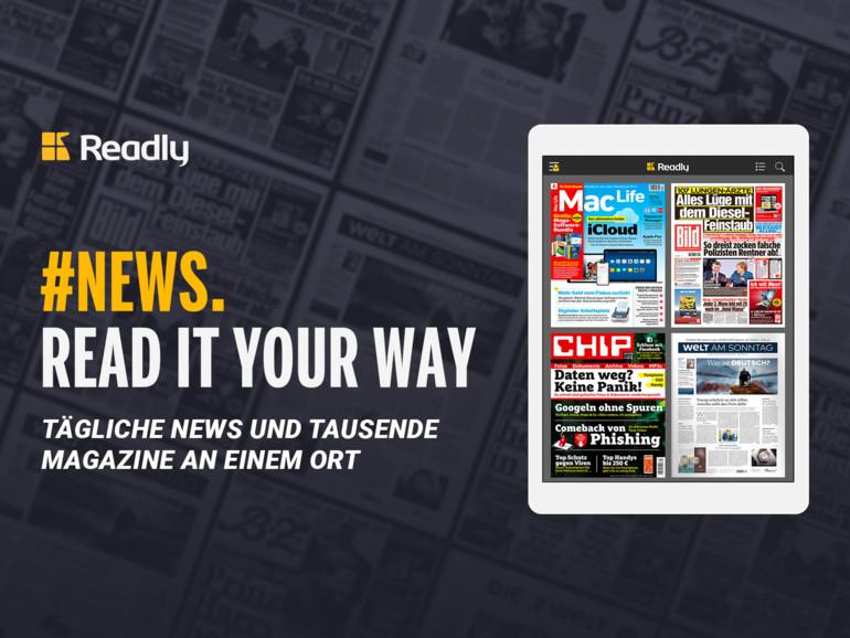 Einen Monat Readly mit Tageszeitungen für nur 99 Cent