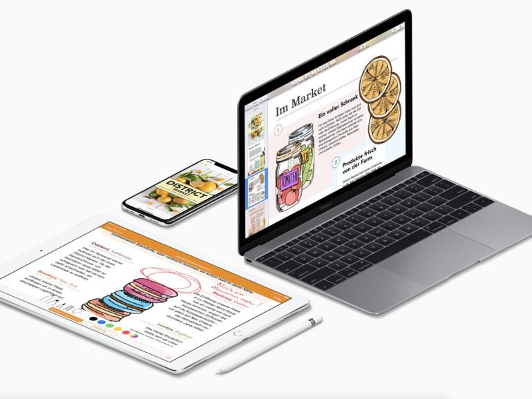 Apple aktualisiert Pages, Numbers und Keynote für iOS und Mac