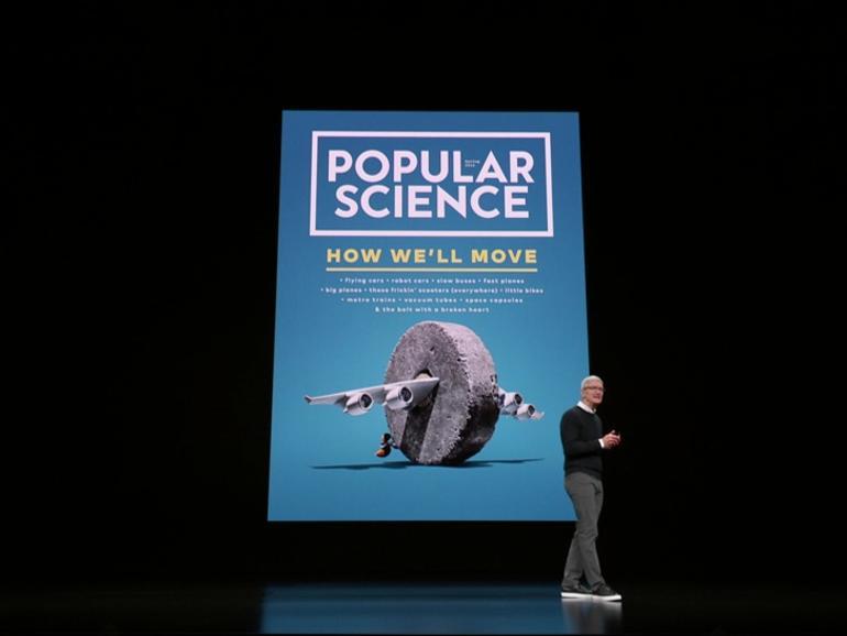 Magazine wie Popular Science sind Teil von Apple News+