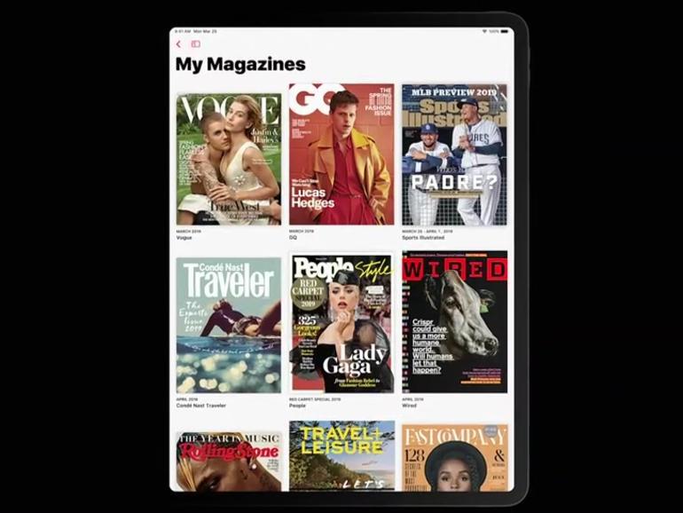 Sie erhalten eine Übersicht Ihrer abonnierten Zeitschriften und Zeitungen in der News-App