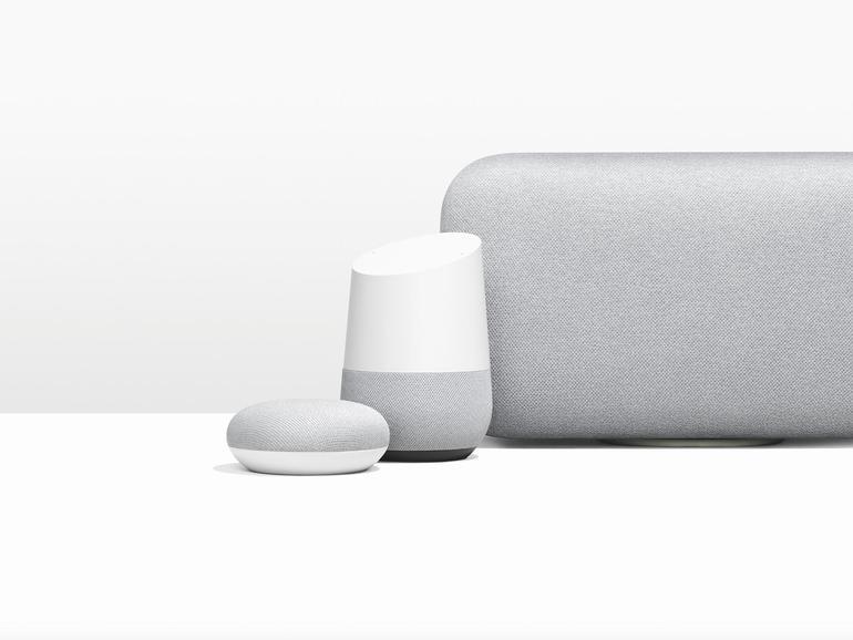 Der Google Assistant ist inzwischen in verschiedenen Größen und mit unterschiedlichen Lautsprechern verfügbar.