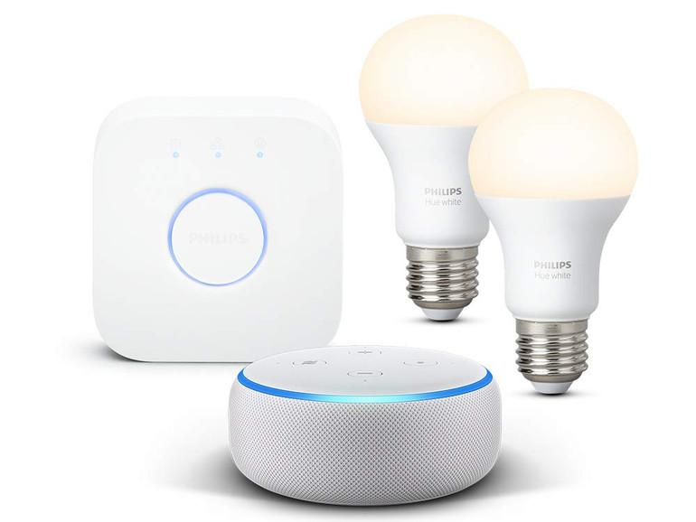 Echo Dot und Hue Starterkit im Paket günstiger