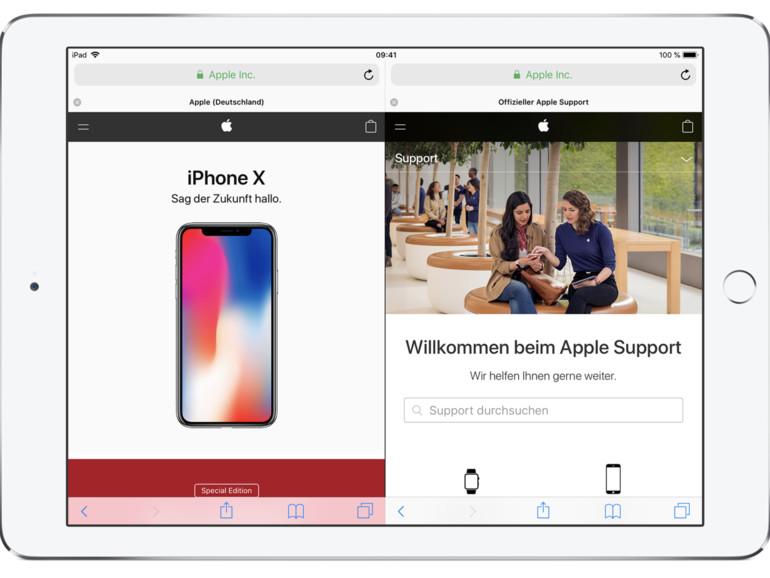 Zwei Safari-Fenster auf dem iPad – so geht's