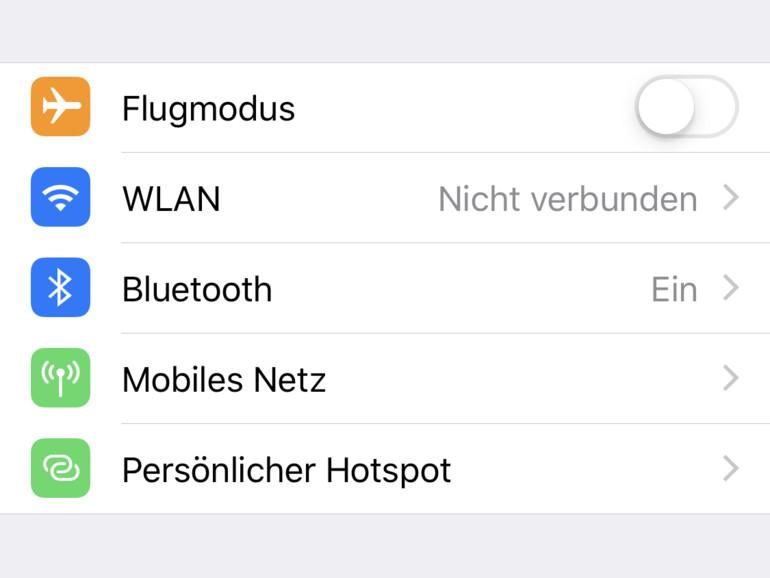 WLAN-Einstellungen am iPhone