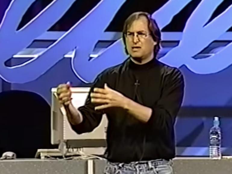 Steve Jobs beim Fireside Chat im Rahmen der WWDC 1997
