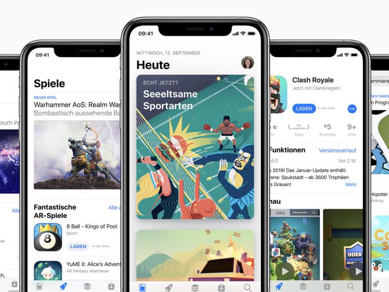 Mobile Daten: Apple erhöht Downloadlimit für App-Store-Downloads