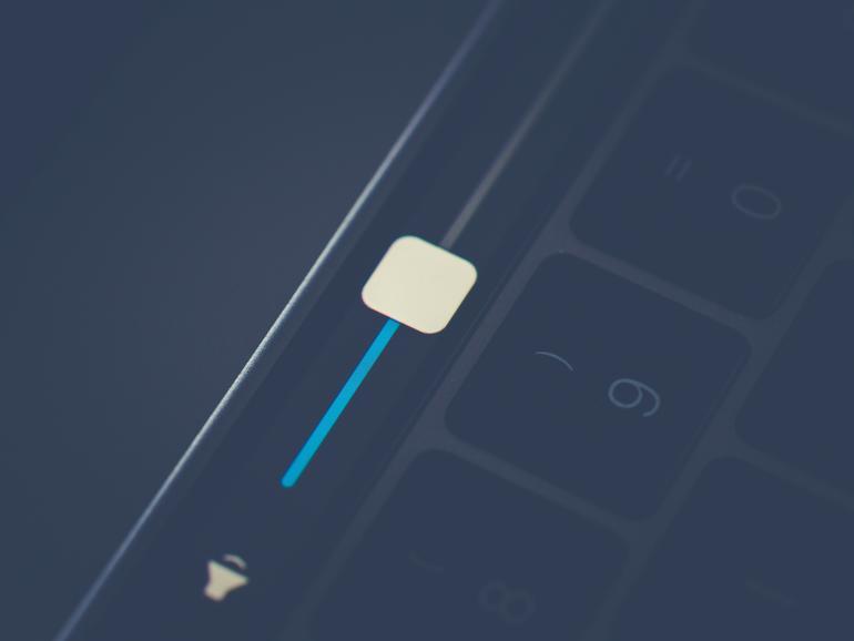 Nicht nur für Lautstärkereglung gut geeignet: Die Touch Bar am MacBook Pro