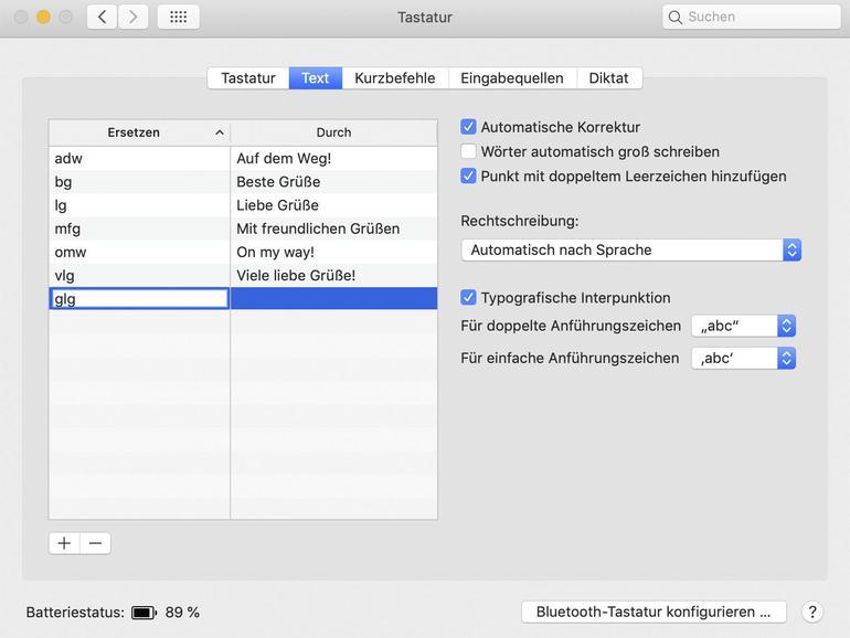 Schneller schreiben mit Textbausteinen am Mac - so geht's