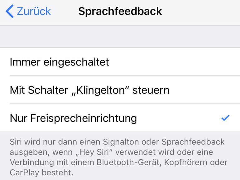 Sprachfeedback am iPhone einstellen