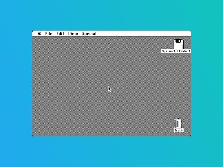 Der Startbildschirm von System 1 alias Mac OS 7.6