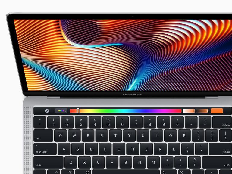 Das erneuerte 13-Zoll-Modell des MacBook Pro verfügt ab sofort auch über Touch Bar, Touch ID, T2-Chip sowie ein True Tone Retina Display.