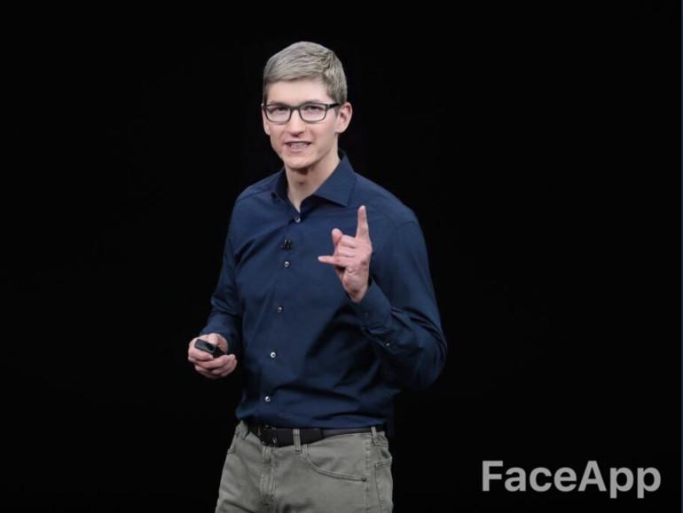 Auch Apple-CEO Tim Cook wurde durch FaceApp verjüngt