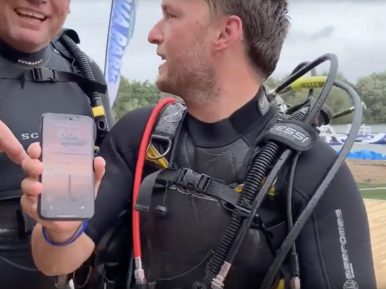iPhone X überlebt 2 Tage auf dem Grund eines Sees