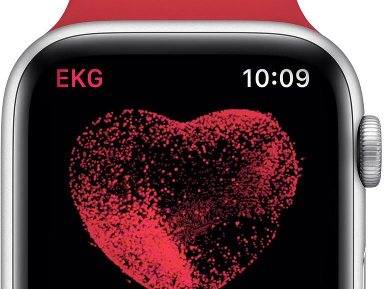 Es kann so einfach sein: EKG-App starten, Finger auf die Krone legen und 30 Sekunden warten. Mehr müssen Sie nicht tun, um ein Elektrokadiogramm mit der Apple Watch Series 4 zu erstellen. Ältere Version der Smartwatch verfügen nicht über diese Funktion.