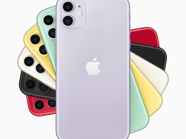 iPhone 11 in vielen verschiedenen Farben