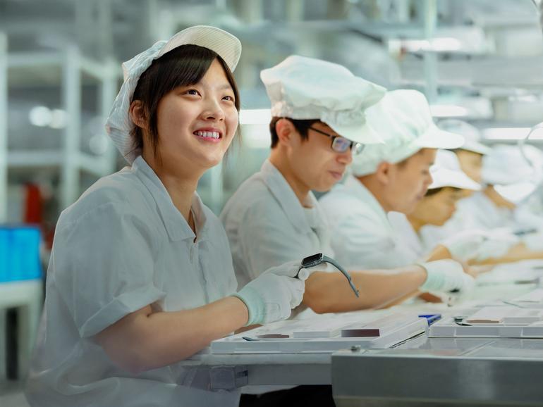 Foxconn verstößt gegen chinesisches Arbeitsgesetz, sagt Apple