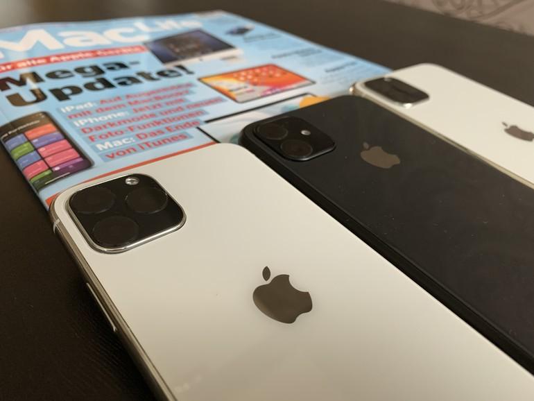 So sehen sie aus, die neuen iPhone-Modelle 2019. Abgebildet sind hier noch Dummys aus der Hüllenproduktion