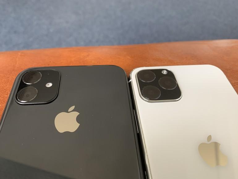 Je eine Kameralinse mehr für die Nachfolger von iPhone XR und iPhone XS. Im Bild: Dummys aus der Hüllenproduktion.