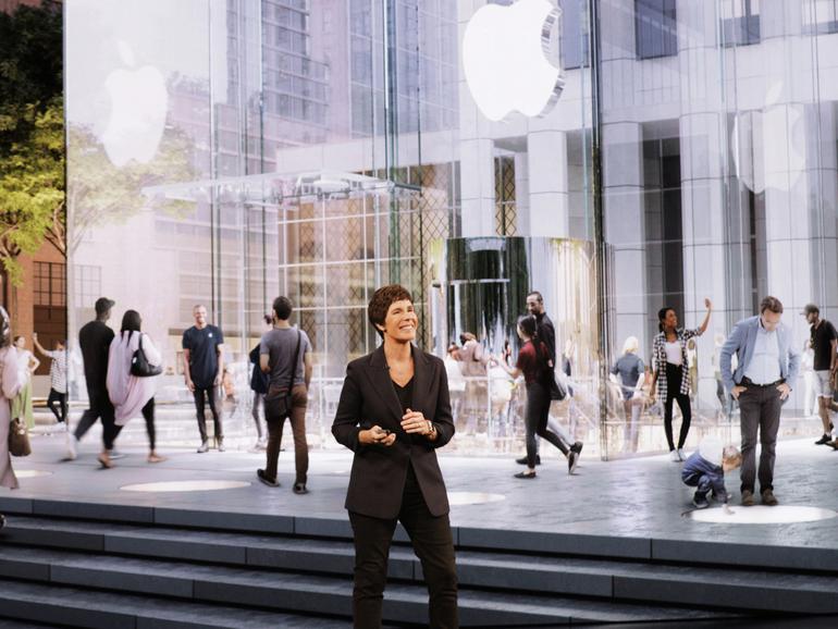 Neu gestalteter Apple Store auf der Fifth Avenue in New York