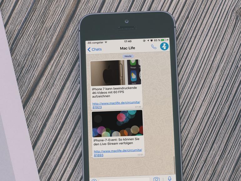 Die wichtigsten Apple-News direkt auf WhatsApp