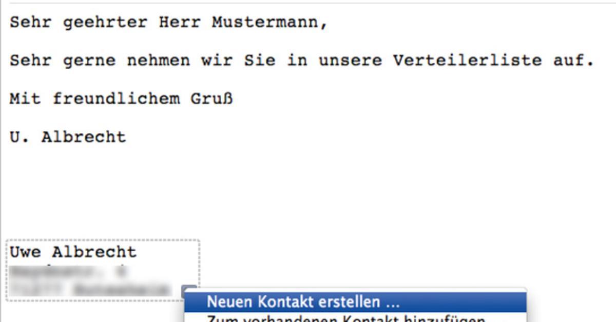 Adressverwaltung Im Griff Mit Adressbuch Mail Und Pages Briefe An