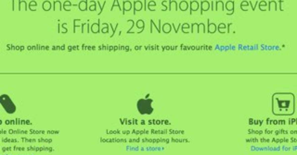 black friday 2013 apple macht mit mac life. Black Bedroom Furniture Sets. Home Design Ideas