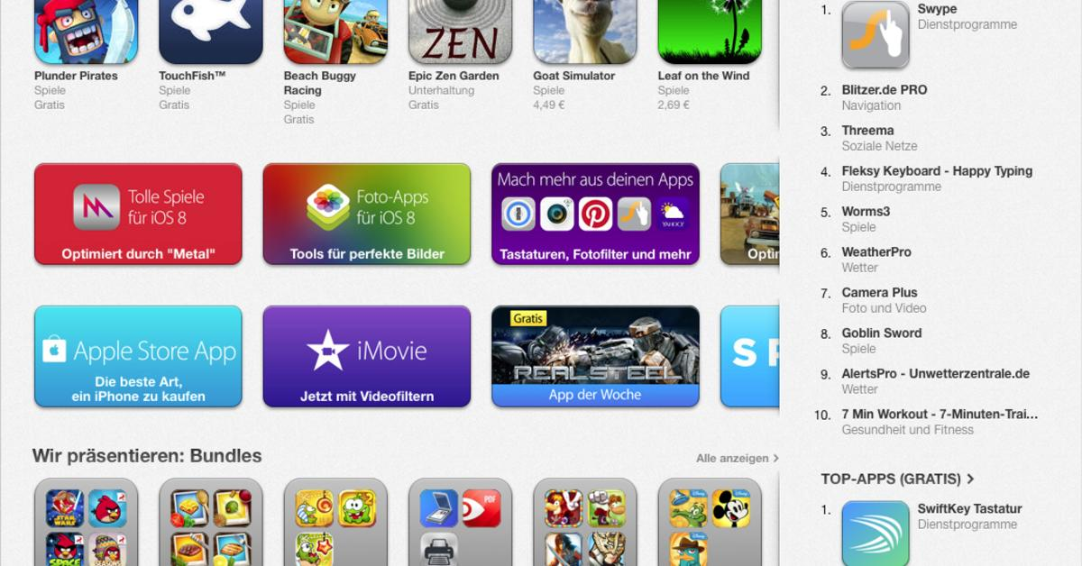 iOS 8: Swype- und SwiftKey-Tastatur stürmen die App-Store-Charts