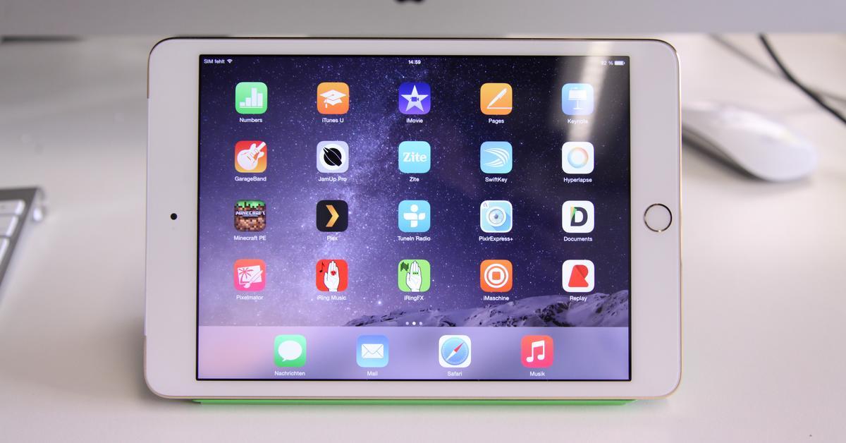 """iPad mini 3 im Test: Produktrecycling mit goldenem Anstrich - """"Gut"""" heißt nicht immer """"Alles neu"""""""