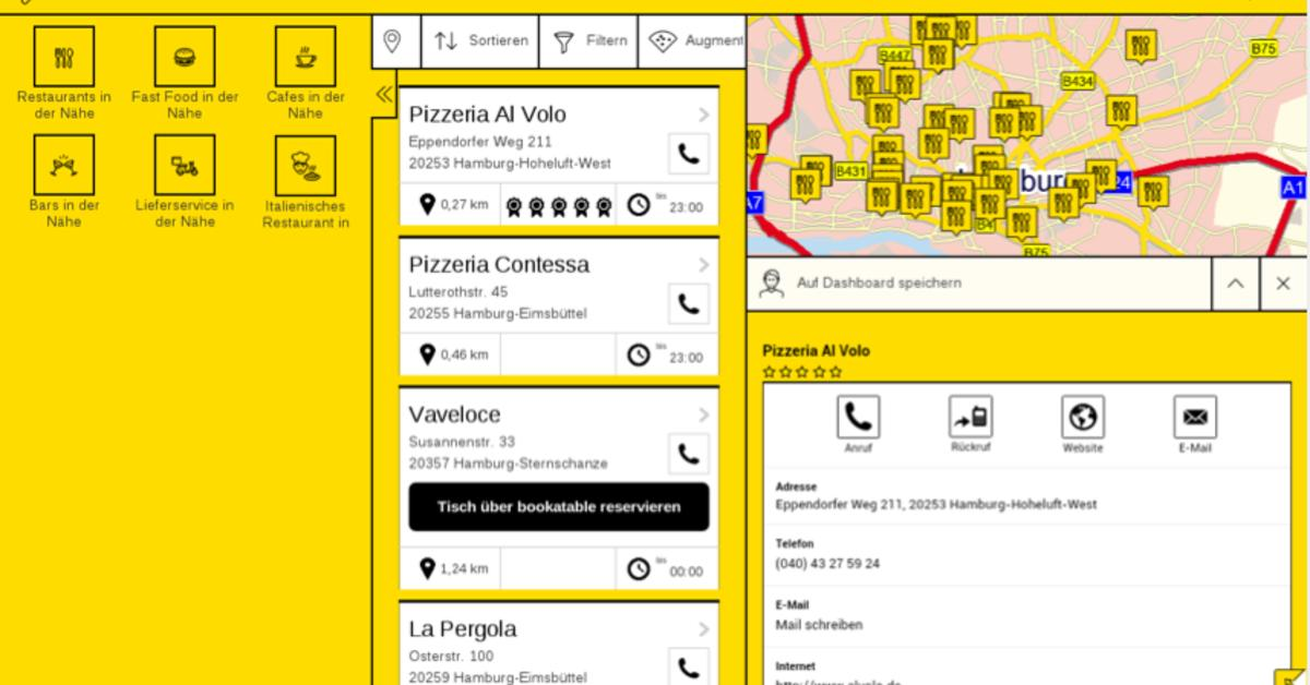 gelbe seiten gratis app bekommt pers nliche. Black Bedroom Furniture Sets. Home Design Ideas
