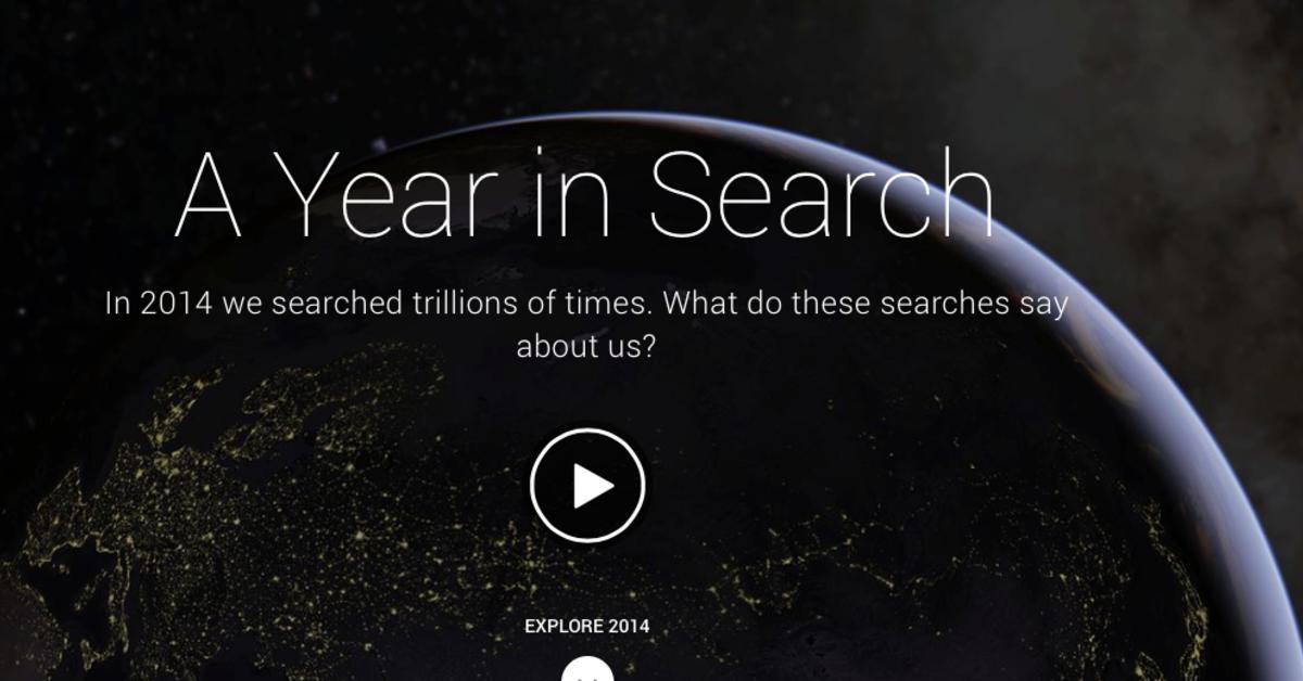 Year in Search: Google veröffentlicht die 10 am häufigsten gesuchten Begriffe 2014