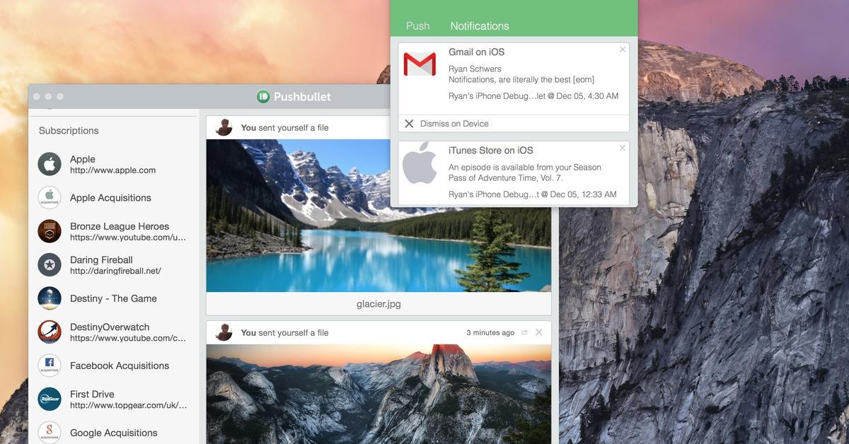 Pushbullet - das bessere Continuity: Push-Mitteilungen vom iOS-Gerät am Mac empfangen - mehr als nur iMessage und Anrufe