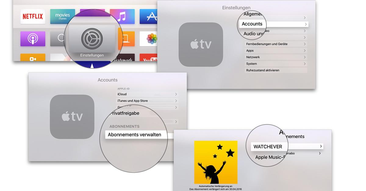 apple tv abo k ndigen netflix und watchever abo beenden mac life. Black Bedroom Furniture Sets. Home Design Ideas