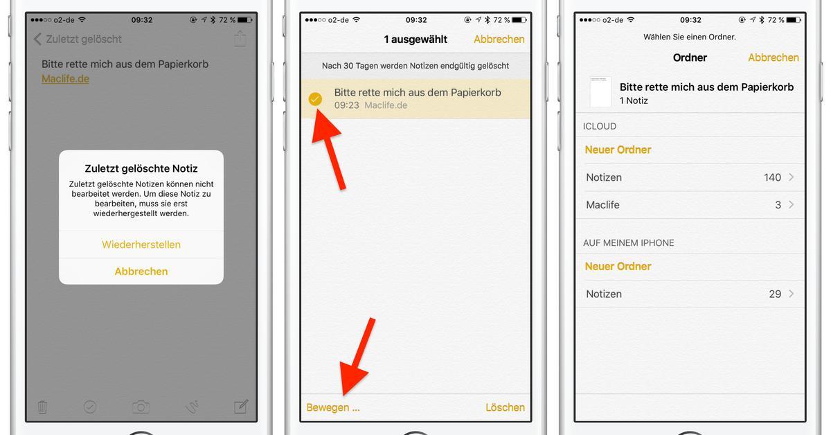 Apple Iphone Notizen Wiederherstellen