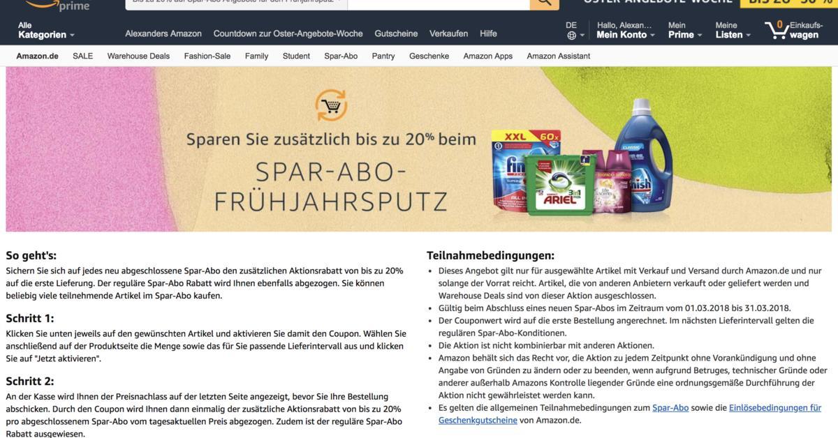 e327c58cebcf84 Bei Amazon sparen  Online-Shopping aber richtig