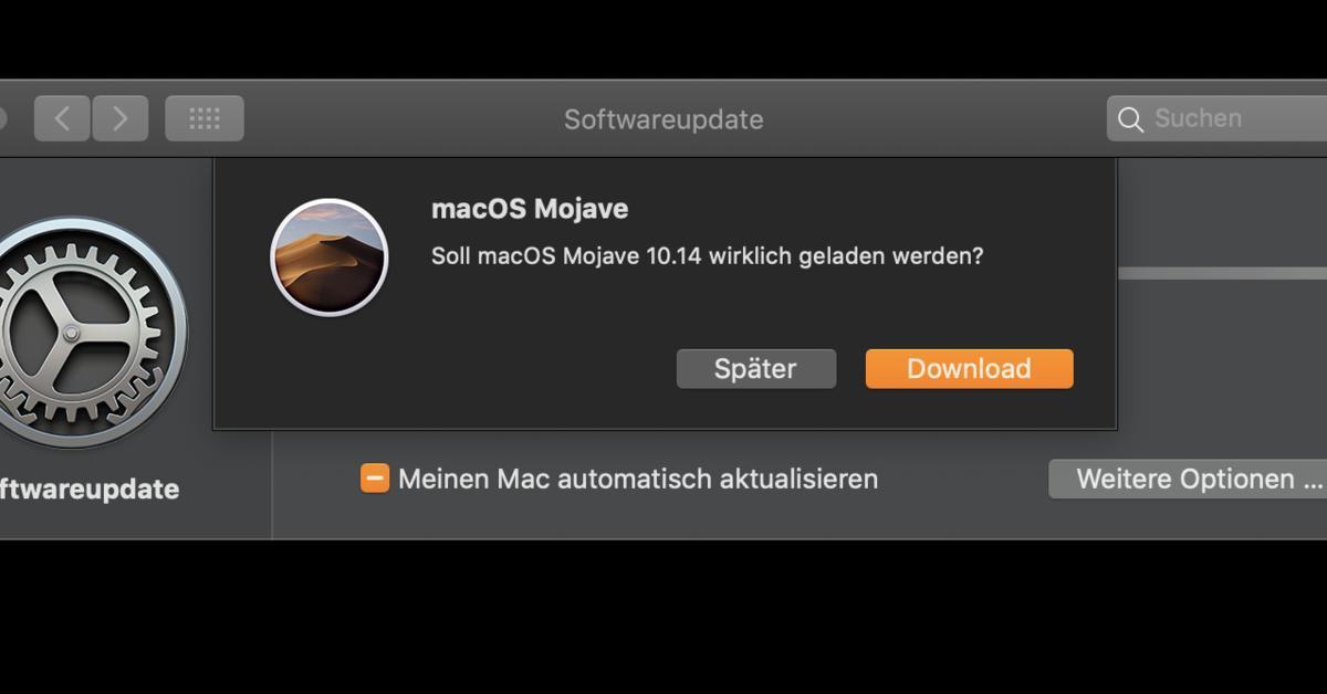 USB-Stick zum Booten und Installieren von macOS Mojave