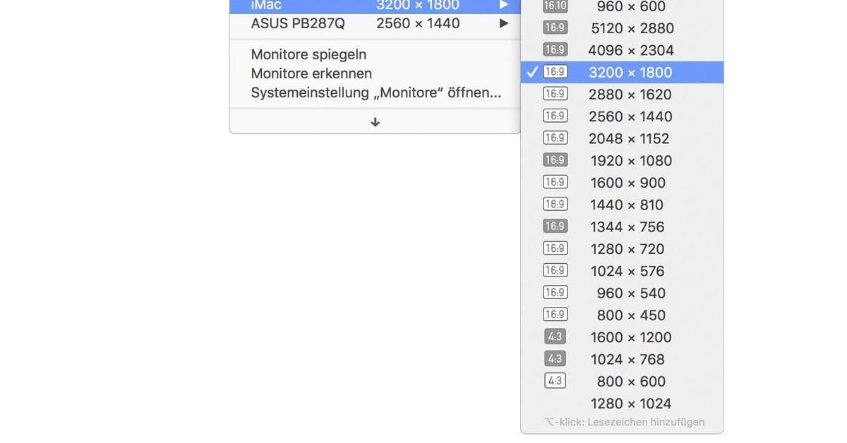 Am MacBook Pro: Menüleiste und Touch Bar individualisieren