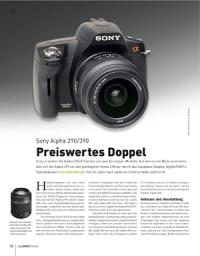 Preiswertes Doppel: Sony Alpha 390 & 290