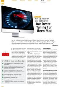 Bestes Tuning: Mac OS X warten und optimieren