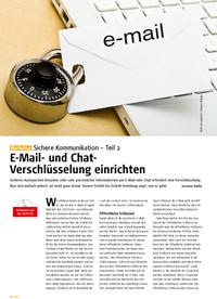 E-Mail- und Chat-Verschlüsselung einrichten