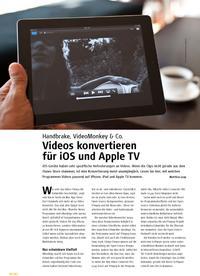 Handbrake, VideoMonkey & Co.: Videos konvertieren für iOS und Apple TV