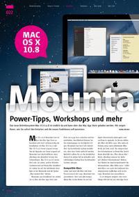 Power-Tipps, Workshops und mehr: Mountain Lion