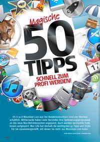 Mountain Lion: 50 magische Tipps - Schnell zum Profi werden