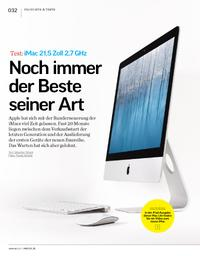 Test: iMac 21,5 Zoll 2,7 GHz