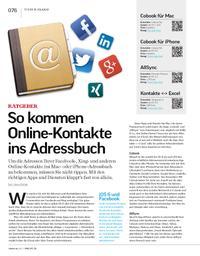 Ratgeber: So kommen Online-Kontakte ins Adressbuch
