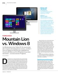 Vergleich: Mountain Lion vs. Windows 8