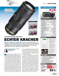 Telezoom-Objektiv mit Bestleistung: Nikon AF-S Nikkor 70-200mm F/4G ED Vr