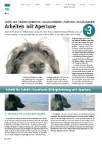 Arbeiten mit Aperture: Lichter und Schatten optimieren, Schwarzweißbilder, Ausfl ecken und Zuschneiden
