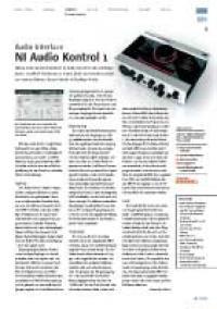 Audio-Interface: NI Audio Kontrol 1